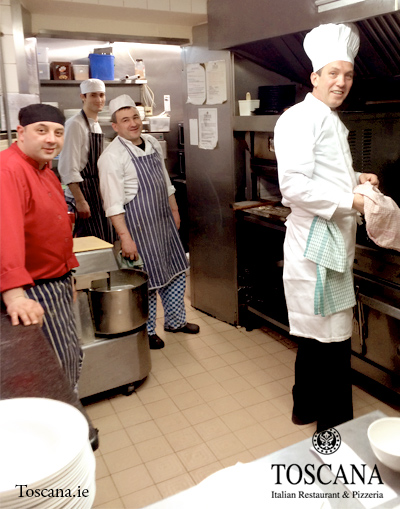 Italian Restaurant Toscana - The Kitchen is Open - Head Chef Agie