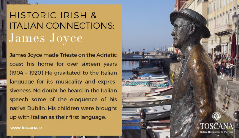 Historic Irish and Italian Connections - James Joyce
