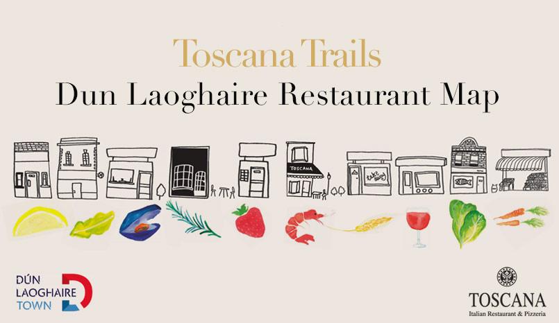 Dun Laoghaire Restaurant Map - Toscana Italian Restaurant