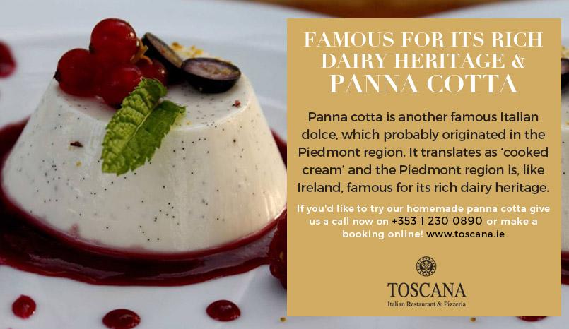 Panna Cotta Italian Desserts - Toscana Italian Restaurant