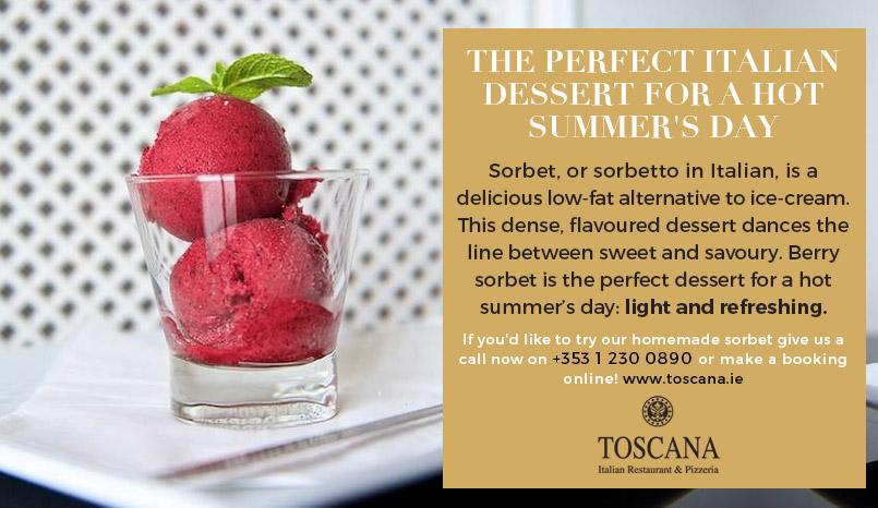 Sorbet Italian Dessert - Toscana Italian Dublin