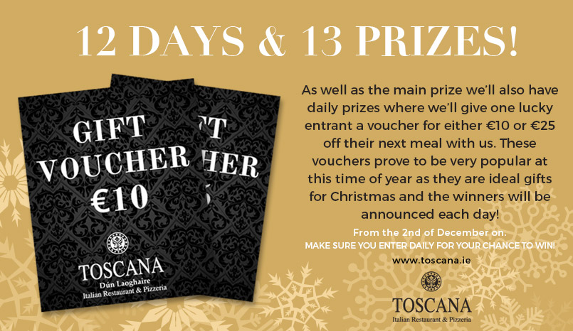 Christmas Giveaway - Toscana Italian Restaurant