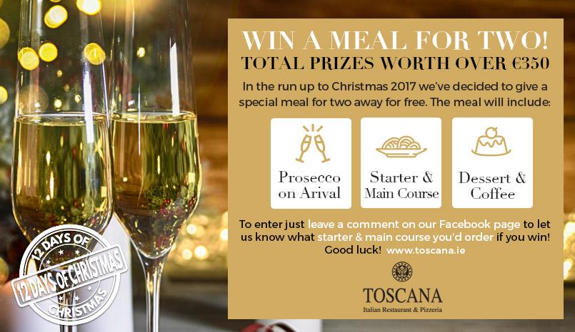 Toscana Christmas Competition - Italian Restaurant Dublin