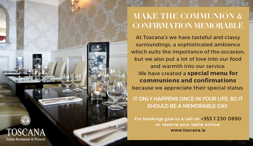 Memorable Communion and Confirmation Meals - Toscana Italian Restaurant