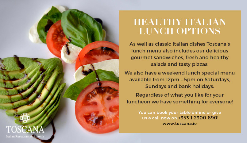 Healthy Italian Lunch Options - Toscana Italian Restaurant