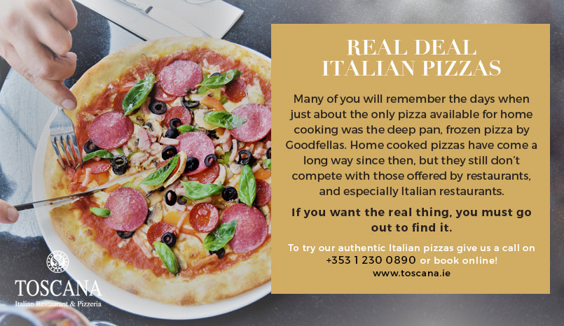 Authentic Italian Pizza Ireland - Toscana Italian Restaurant
