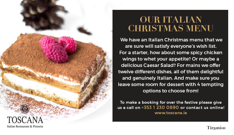 Italian Christmas Menu - Toscana Italian Restaurant