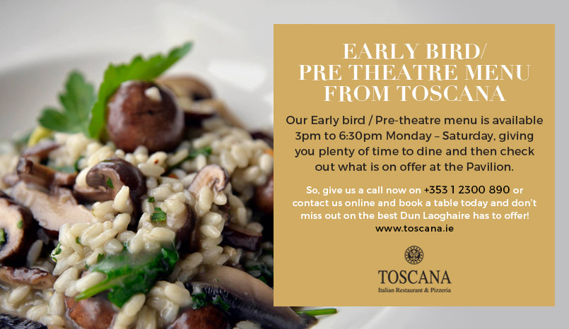 Early Bird Pre Theatre Menu - Toscana Italian Restaurant